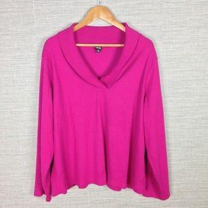 Rafaellar Ribbed Knit Shawl Collar Shirt